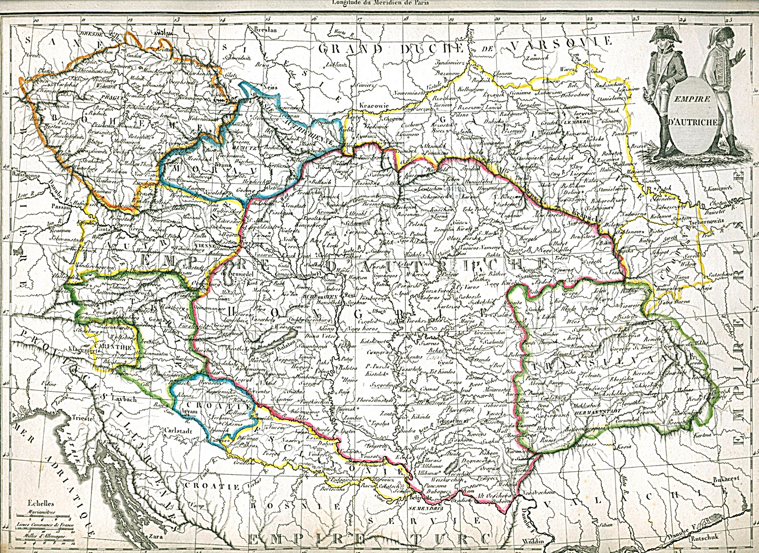 Maps - Map of austria hungary 1900 1907